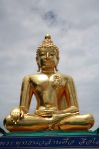Buddha skulptur i Nordthailand